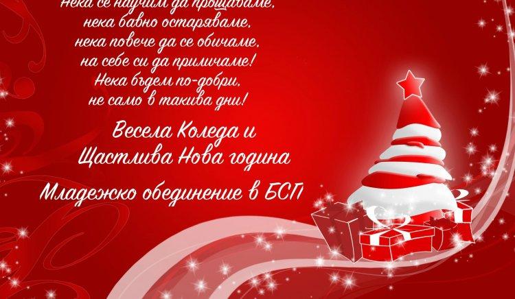 МО в БСП ви пожелава Весела Коледа
